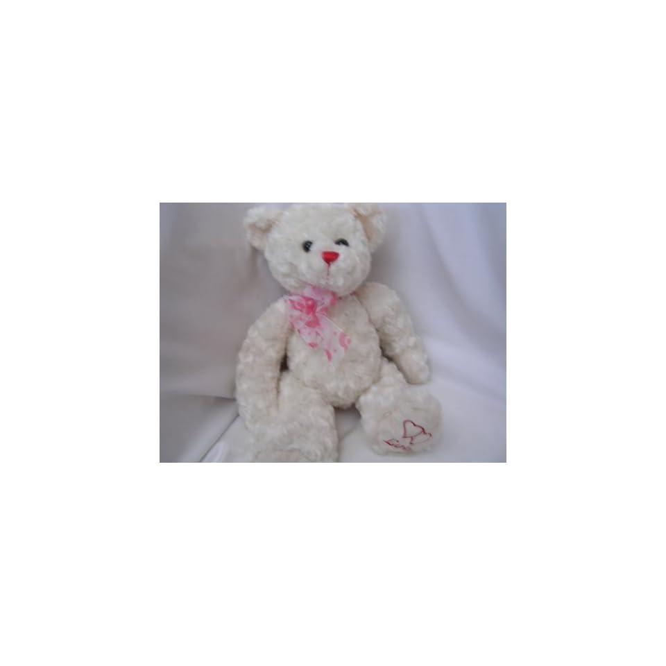 Valentine White Teddy Bear 15 Plush Toy Collectible