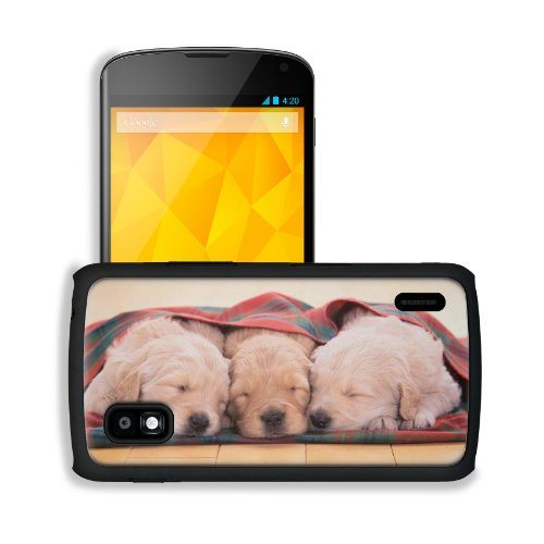Puppies Dogs Sleeping Pets Animal Blanket Google Nexus 4 Mako Snap Cover Case Premium Leather Customized Made To Order Support Ready 5 3/16 Inch (132Mm) X 2 13/16 Inch (72Mm) X 4/8 Inch (12Mm) Liil Nexus_4 Professional Cases Touch Accessories Graphic Cove front-762966