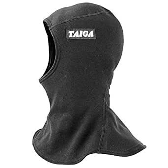 TAIGA Unisex Unisize Fleece Balaclava Hood, (Black or Light Grey), MADE IN CANADA, Black