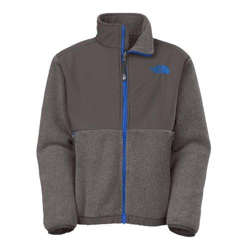 The North Face Denali Boys Jacket Medium R Charcoal Grey Heather-Ntcl front-1005250