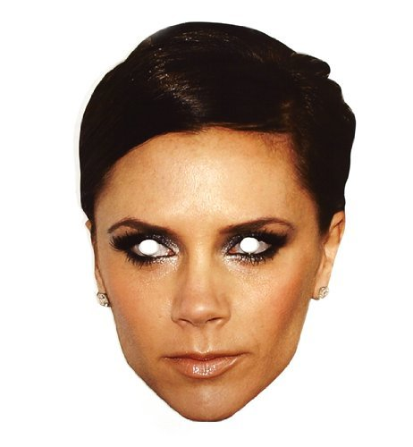 "Mask-Arade High Quality Cardboard Party-Mask ""Victoria Beckham"" - 1"