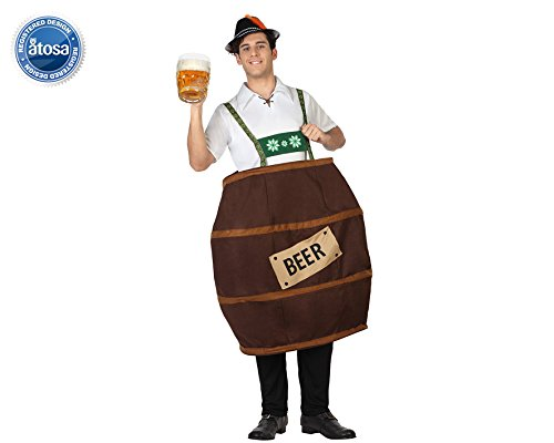 Atosa-26752-Disfraz-Para-Adultos-Barril-De-Cerveza-T-2