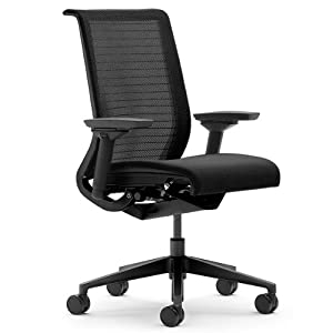 Steelcase leap chair headrest - Steelcase Think 3d Mesh Fabric Chair Licorice Amazon Co Uk Kitchen