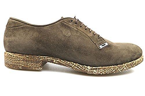 scarpe uomo ALBERTO GUARDIANI 41 scarpa classica marrone camoscio AS796