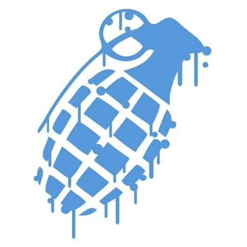Grenade LIGHT BLUE Drip Splatter Snowboard Vinyl Decal Sticker CUSTOM