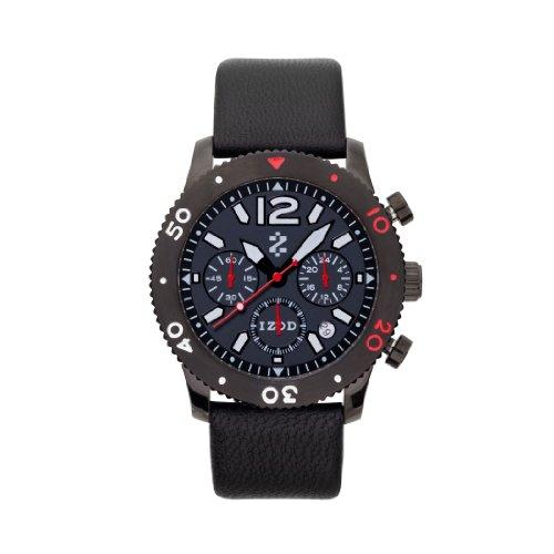 IZOD Men's IZS6/4 BLACK/RED Sport Quartz Chronograph Watch