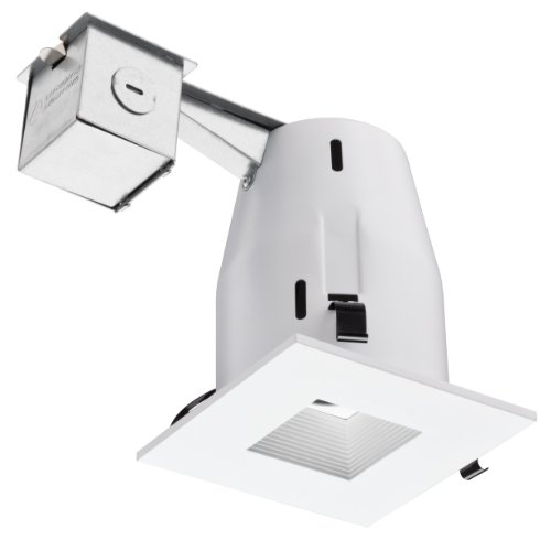 Lithonia Lk4Sqmw 4-Inch Recessed Square Baffle Kit, Matte White