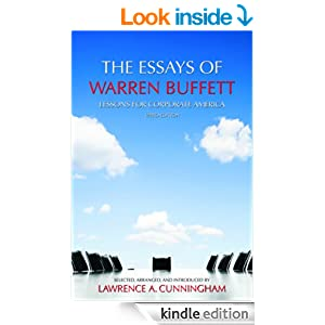 the essays of warren buffett by lawrence cunningham The essays of warren buffett: lessons for corporate america by lawrence a cunningham (editor) in djvu, epub, fb3 download e-book.