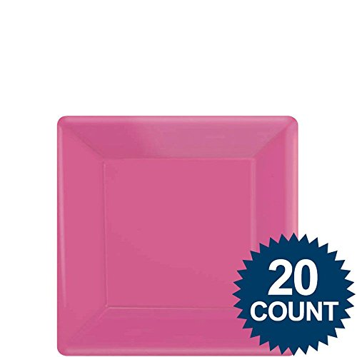 "AMSCAN INC. 7"" Pink Square Paper Plates"