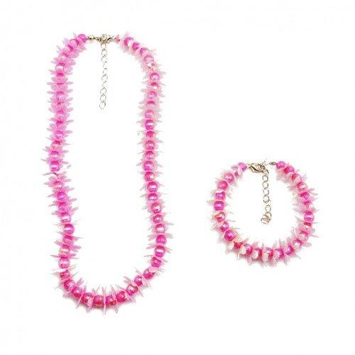 SG Paris Set Necklace+ Bracelet Comb Pink Ro Fonc/Fushia/Framb Jewelry Set Jewelry Set Plastic Winter Kid For The Princess Fashion Jewelry / Hair Accessories Flowers