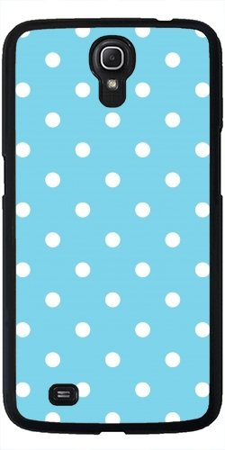 Hülle für Samsung Galaxy Mega 6.3 GT-I9205 - Mädchen Liebe Dots - Blau / Weiß