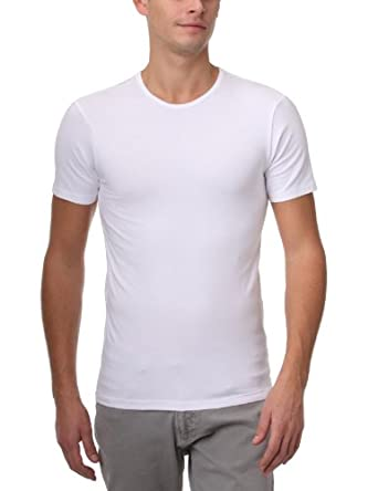Dim Dry & Cool - Pack de 2 - T-Shirts col rond - Homme - Blanc - FR : Medium (Taille fabricant : 3)