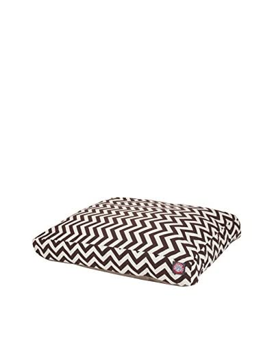 Chevron Small Rectangle Pet Bed, Chocolate