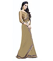 Puffin Fashion Bollywood Designer Embroidary Saree With Blouse Piece_Peding Saree