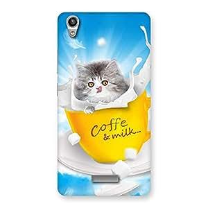 Ajay Enterprises kitty in cofi cup Back Case Cover for Lava-Pixel-V1