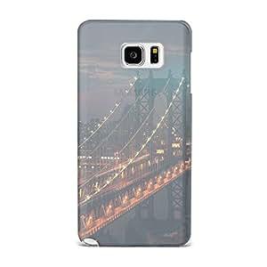Samsung Note 5 Transparent Printed Design [Scratchproof + Protective] - Bridge City River Flare Case