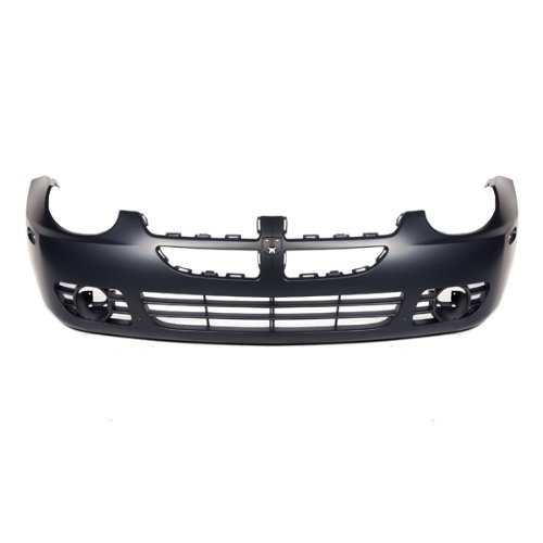 CarPartsDepot, Front Bumper Cover w/ Fog Hole Primed Black Plastic Replacement, 352-17113-10-PM CH1000378 5101772AA (Dodge Neon 2003 Bumper compare prices)