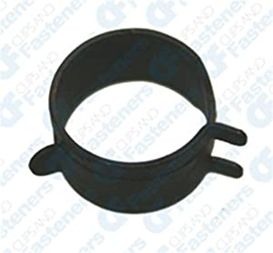 """100 3/4"""" Spring Action Hose Clamps Black"""
