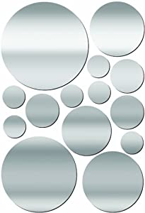 Lot 26 Studio ADD-HERES Adhesive Reflections-Dots Wall Stickers, 10.25 x 15-Inches