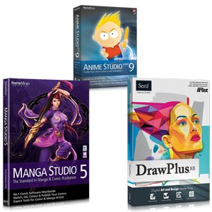 Creative Essentials Bundle: Drawplus X6, Manga Studio 5, Anime Studio Debut 9