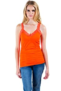 Seamless Laced Camisole in Flame