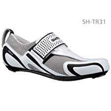 Shimano SHTR31 Men's Triathlon Cycling Shoe White/Black 42