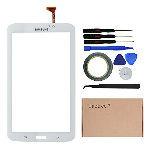 TaotreeTM Samsung Galaxy Tab 3 Screen Replacement Digitizer Touchscreen Panel Glass Len for Samsung Galaxy TAB 3 Sprint SM-T217S Tablet PC with Tools (White)