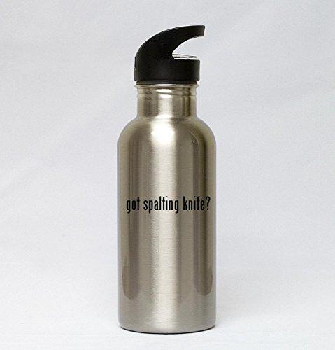 20oz Stainless Steel Silver Water Bottle - got spalting knife?