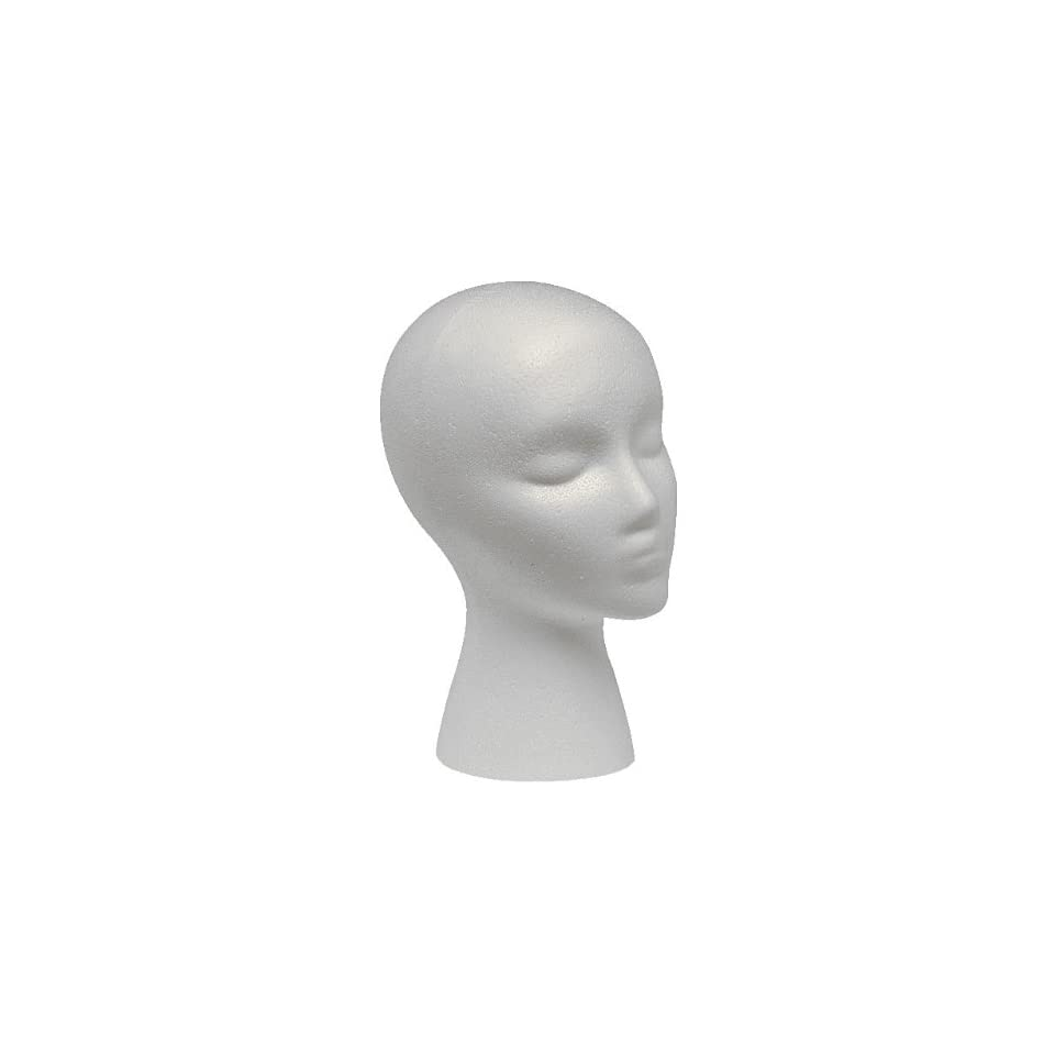 STYROFOAM HEAD WIG HEAD MANNEQUIN WIG STAND WITH FACE