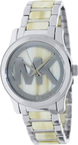 Michael Kors Mid-Size Silver Stainless Steel Logo Three-Hand Women'S Watch #Mk5787