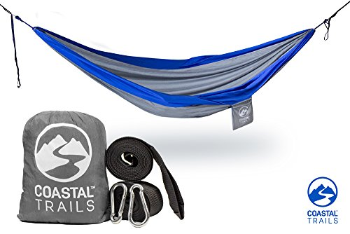 Portable Camping Hammock by Coastal trails - Best Lightweight Double Hammock for Camping - Extra Large - Holds 500lbs (Eagles Peak 6 Person Tent compare prices)