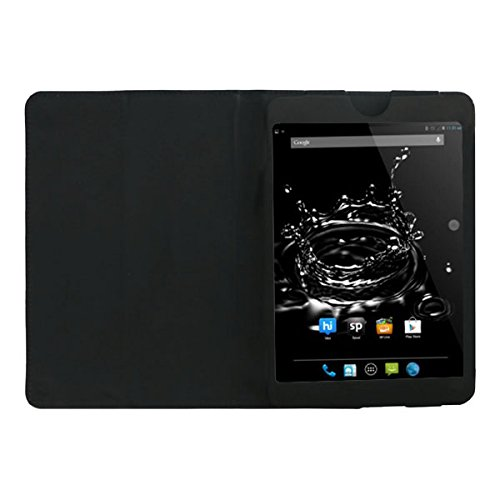 Acm Executive Leather Flip Case For Micromax Funbook Ultra Hd P580i Tablet Front & Back Flap Cover Stand Holder Black