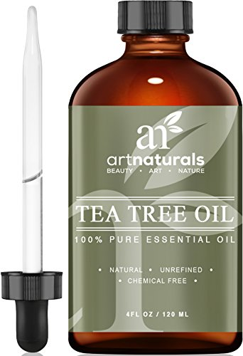 Art Naturals® Tea Tree Essential Oil Pure & Natural 4 Oz Premium Melaleuca Therapeutic Grade From Australia, Use With Soap & Shampoo, Face & Body Wash, Treatment for Acne, Lice & Many Skin Conditions