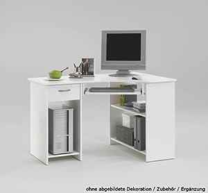 lifestyle4living bureau d 39 angle avec 1 tiroir 2 compartiments ouverts 1 tablette coulissante. Black Bedroom Furniture Sets. Home Design Ideas