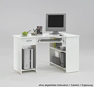 Lifestyle4living bureau d 39 angle avec 1 tiroir 2 - Bureau d angle avec tiroir ...