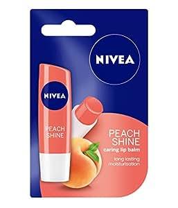 Nivea Fruity Shine Peach Lip Balm, 4.8g