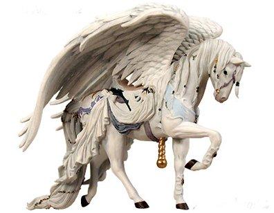 Nene Thomas Couture Carousel Horse Angel White