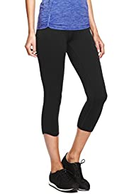 Santoni Seamfree Colour Block Cropped Leggings with Cool Comfort� Technology [T51-13135-S]