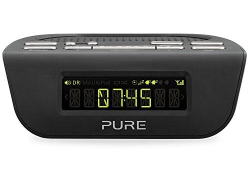 Pure Siesta Mi Serie II Radiowecker (DAB/DAB+/UKW-Tuner & Sleep-Timer) schwarz