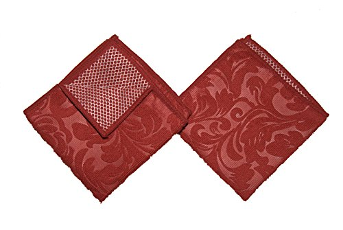 Kitchen Trends Microfiber Scrubber Cloths, Set of 2, Red