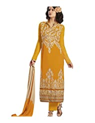 Designer Suit With Heavy Embroidery On The Kameez DR1438