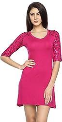 Texco Garments Women's A-Line Dress (11, Pink, L)