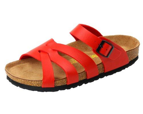 Devo Women's Nice Cross Strap Buckle Fastening Cork Summer Beach Sandals Shoes
