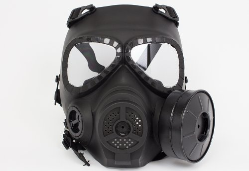 [[Special forces equipment & Cosplay] it is not cloudy, quiet fan with M04 style gas mask BK large diameter fan mounted on! Survival game (japan] (Toy Gas Mask)