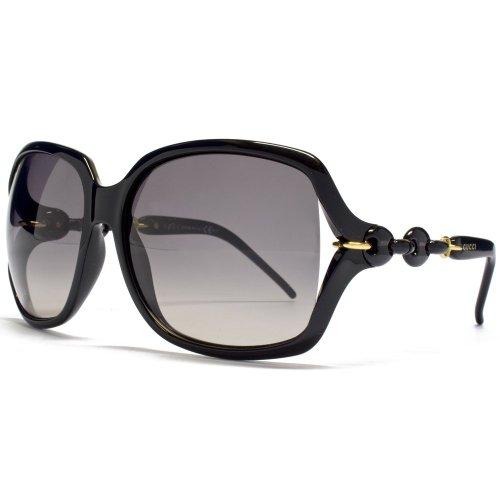 Gucci Chain Effect Temple Sunglasses in Black