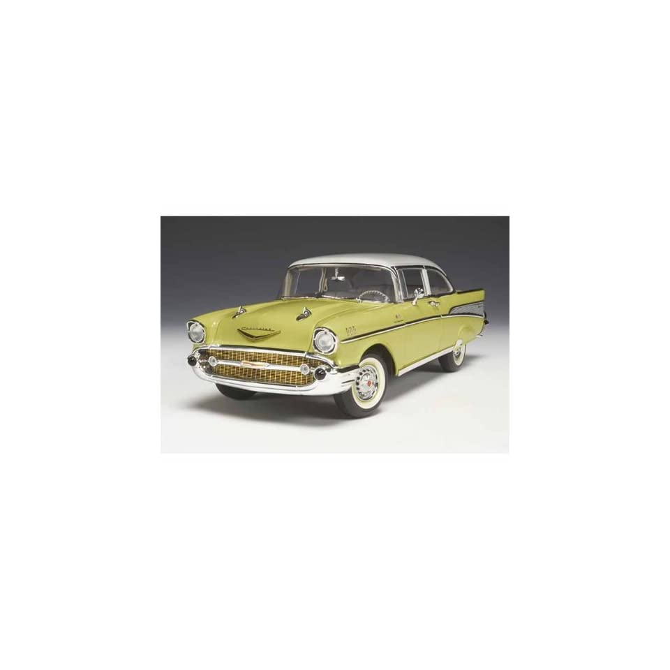 1957 Chevy Bel Air Sedan 1/18 Coronada Yellow & India Ivory