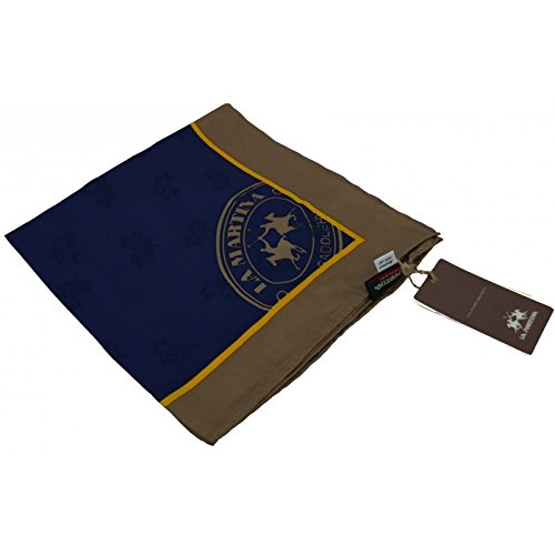 Sciarpa Blu La Martina Saddlery foulard seta 100% 52x52 cm Scarf