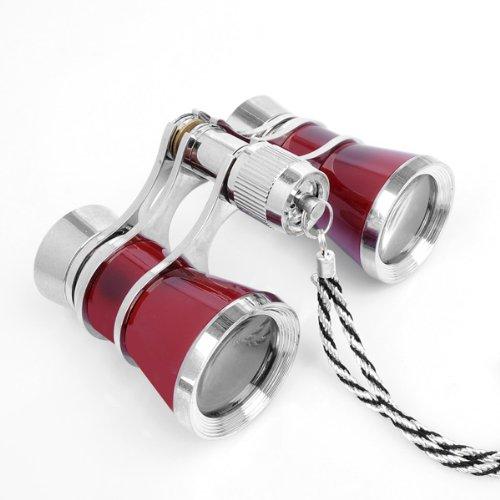 Uoften Exquisite Theater/Opera 3X25 Glasses Coated Red Binocular Telescope