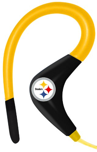 iHip NFSE82PS NFL Sport Ear Buds with In-Line Microphone - Pittsburgh Steelers Yellow/Black at Amazon.com