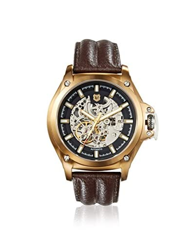 Andrew Marc Men's A11404TP 3 Hand Brown/Gold Automatic Watch
